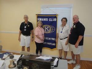 Kiwanis Club Of Greater Ocean Pines-Ocean City Welcomes New Member