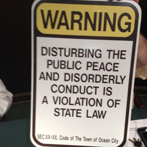 OC Approves Signs Warning Against Misbehavior; Businesses Required To Post Before Next Spring