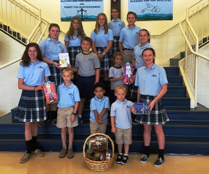 "Most Blessed Sacrament Catholic School Students Make Cards And Put Together Basket Of Goodies In Honor Of ""Thank A Police Officer Day On Delmarva"""