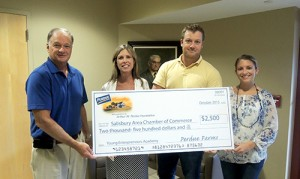Salisbury Area Chamber Of Commerce Receives $2,500 Donation From Perdue Foundation To Support YEA!