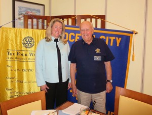 Caroline Massey From NASA Special Speaker At Ocean City/Berlin Rotary Club's Monthly Meeting