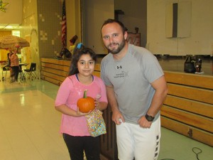 Berlin Intermediate Fourth Graders Guess Weight Of Pumpkin In Physical Education Class