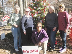 Members Of The Pine'eer Craft Club Participate In Hometown Christmas Celebration