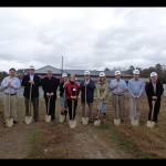 Breaking ground on a new OB/GYN office at the Woodbrooke Medical Campus in Salisbury were, from left, Joshua Boston, Chief Development Officer; Brian Holland, Chief Financial Officer; Father Christopher LaBarge, Chairman of the Board of Directors; Anna Napier, Certified Nurse Midwife; Susanne Gray, CEO/President; Dr. Lee Jennings, Department Head of OB/GYN; Katheleen Crossan, Board member; Dr. Floyd Gray, Associate Medical Director and OB/GYN Physician; Dr. Jason Evans, OB/GYN Physician; and Palmer Gillis, Gillis/Gilkerson. Submitted Photo