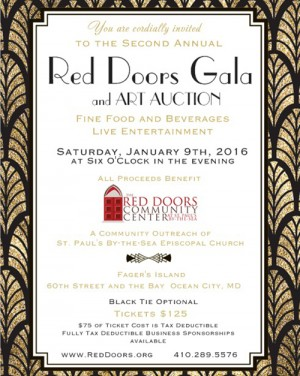 Gala, Art Auction To Benefit Red Doors Community Center