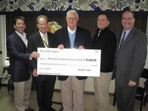 Gibbs Family Donates To Worcester Education Foundation