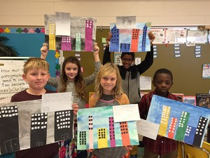 Buckingham Elementary School Third Graders Create City Skylines Showing Their Knowledge Of Multiplication