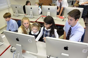 Worcester Prep Honors Computer Science Seniors Work With First Graders