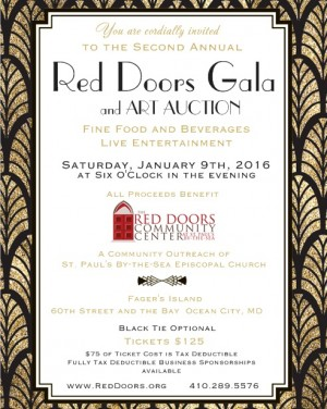 Gala, Art Auction To Benefit Red Doors Community Center; Tickets On Sale For Jan. 9 Event