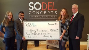SoDel Cares Donates $5,000 To Harry K Foundation