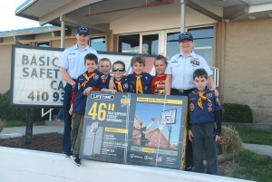 Cub Scout Pack Donates Hoop To OC Coast Guard Station
