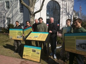 Scout Installs Historic Signs At Downtown Ocean City Sites