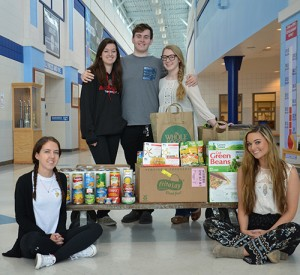 SD High School National Honor Society Members Donate Canned Goods To Diakonia