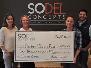 SoDel Cares Donates $1,000 To Children & Families First