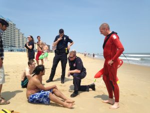 Good Samaritan, Rescue Swimmers Aid Distressed Body Boarders