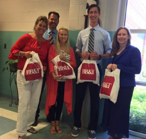 SD Middle School Thanks BB&T For Their Generosity