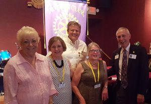 New Officers Of The Snow Hill Rotary Club Sworn In