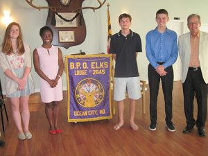 Ocean City Elks Awards Four Scholarships To SD High School Graduates