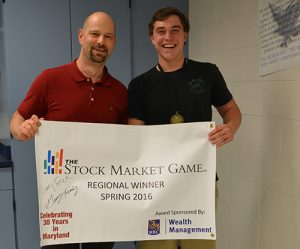 SD High School Senior Gary Frick Finishes Number One On The Maryland Eastern Shore Stock Market Game