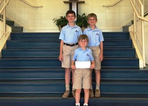 Myers Family Makes Generous Donation To Most Blessed Sacrament Catholic School
