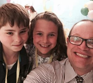 "Rising Fourth Graders Take ""Selfie"" With Third Grade Teacher At Annual Third Grade Bridging Ceremony"