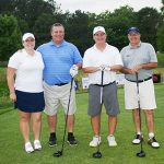 During the Stephen Decatur Athletic Boosters' 37th annual golf tournament last weekend, the team made up of Jenny Sullivan, Mike Sullivan, Riley Abbott and Tim Heim pictured above took first in the low net division. Submitted photo.