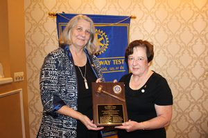 Outgoing Rotary Club Of Salisbury President Recognized For Her Year Of Service
