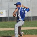 Berlin's Hunter Selzer pitched a complete game in the state championship win over St. Mary's last Friday. Submitted photo