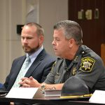 Worcester County State's Attorney Beau Oglesby and Wicomico County Sheriff Mike Lewis were among the community leaders who attended last week's meeting.