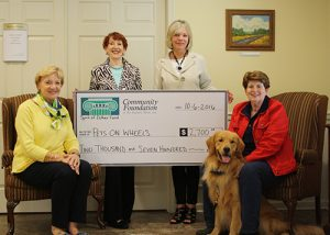 "Spirit Of Ester Fund Grants $2,700 To Support ""Pets On Wheels"""