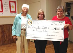 Worcester G.O.L.D. Receives $1,000 Donation From American Legion Auxiliary Unit #166