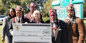 Ancient Egyptian Arabic Order Nobles Present Coastal Hospice With A Generous Gift