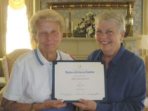 Daughters Of The American Revolution Recognize Ellen Duncan Barnes For 50 Years Of Membership