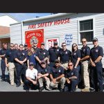 Numerous employees with the Ocean City Fire Department are pictured on hand Thursday morning at Ocean City Elementary School. Photo by Bethany Hooper