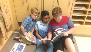 OC Elementary First Graders Enjoy Buddy Readers