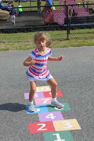Newly Painted Hopscotch Area At OC Elementary A Hit