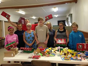 Operation Christmas Child Shoeboxes Filled By Wilson And Zion United Methodist Congregations