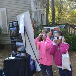 Students use glasses to view 3D images of the sun. Photos by Charlene Sharpe