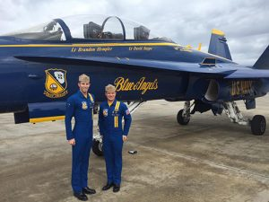 Blue Angels Scout Ocean City In Advance Of 2017 Air Show