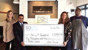 SoDel Cares Donates $5,000 To Harry K Foundation