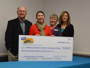 Franklin P. And Arthur W. Perdue Foundation Commits $20,000 To Help Recovery Resource Center