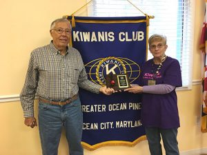 Kiwanis Club Of Greater Ocean Pines-Ocean City Awarded 2015 Red Kettle Drive Third Place