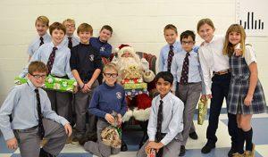 Worcester Prep Fifth Graders Visit With Santa