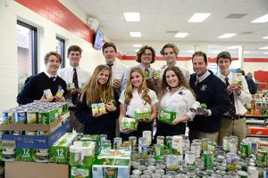 Worcester Prep Upper School Students Donate Canned Goods To Various Organizations