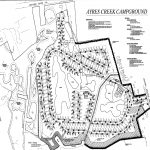 The site plan for the proposed Ayers Creek Campground is pictured. Image courtesy of RD. Hand and Associates Inc.