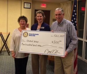 Ocean City/Berlin Rotary Club Donates To United Way Of The Lower Eastern Shore
