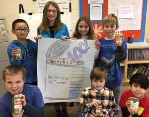 OC Elementary Third Grade Students Collect Canned Good For Daily Bread Soup Kitchen