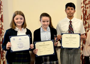 Three Worcester Prep Students Presented With Awards For Winning DAR American History Essay Contest