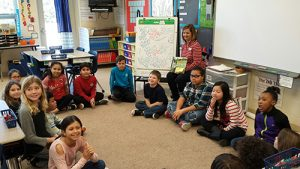 "Students Participate In Grand Discussion After Reading The Book ""The Other Side"""