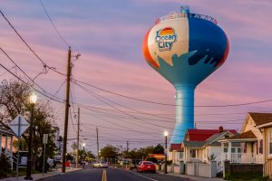 Beach Ball Water Tower Now In Operation; Two Others Being Drained Before Razing